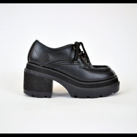 4c0dde1e38f Candie s Shoes - Candies Vintage Black Leather Platform Oxfords 8.5